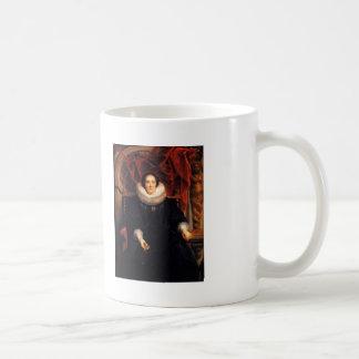 Jacob Jordaens- Portrait of Catharina Behaghel Basic White Mug