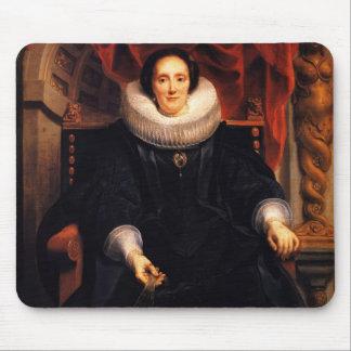 Jacob Jordaens- Portrait of Catharina Behaghel Mouse Pad