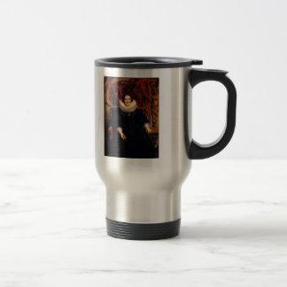 Jacob Jordaens- Portrait of Catharina Behaghel Stainless Steel Travel Mug