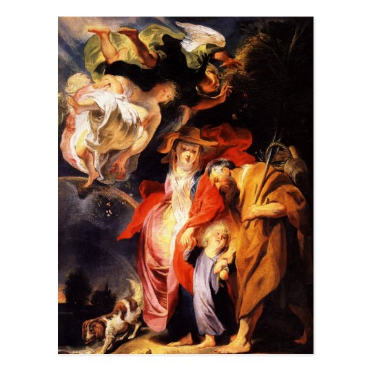 Jacob Jordaens- Return from Egypt of Holy Family Postcard