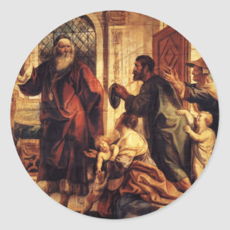 Jacob Jordaens- Usury is a great evil Round Stickers