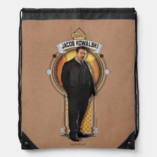 Jacob Kowalski Art Deco Panel Drawstring Bag