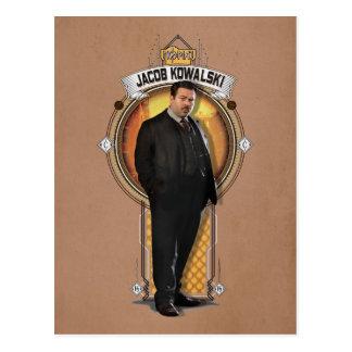 Jacob Kowalski Art Deco Panel Postcard