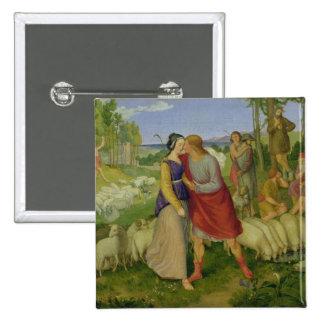 Jacob Meets Rachel, 1827 15 Cm Square Badge