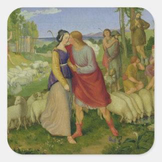 Jacob Meets Rachel, 1827 Square Sticker