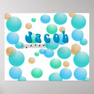 Jacob Musical Name Nursery Room Poster