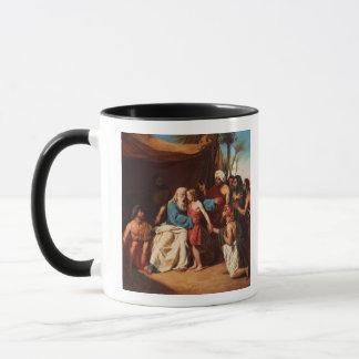 Jacob refusing to release Benjamin, 1829 (oil on c Mug