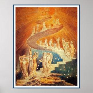 Jacob s Ladder by William Blake Print