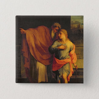 Jacob Sending his Son, Joseph 15 Cm Square Badge