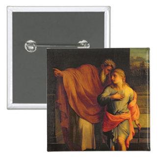 Jacob Sending his Son, Joseph 15 Cm Square Badge