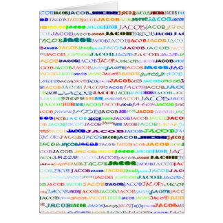 Jacob Text Design II Vertical Greeting Card