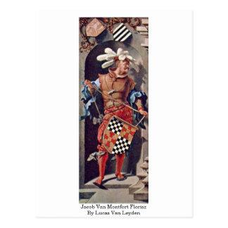 Jacob Van Montfort Florisz By Lucas Van Leyden Postcard