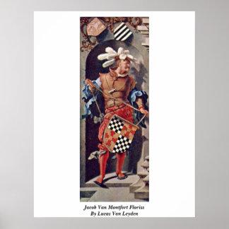 Jacob Van Montfort Florisz By Lucas Van Leyden Poster