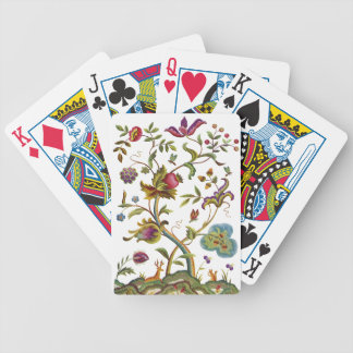 Jacobean Crewel Embroidery Tree of Life Bicycle Playing Cards