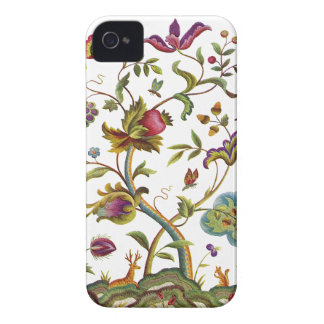 Jacobean Crewel Embroidery Tree of Life iPhone 4 Case-Mate Case