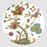 Jacobean Crewel Embroidery Tree of Life Stickers