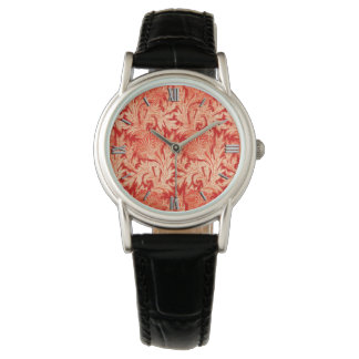 Jacobean Flower Damask, Mandarin and Light Orange Watch