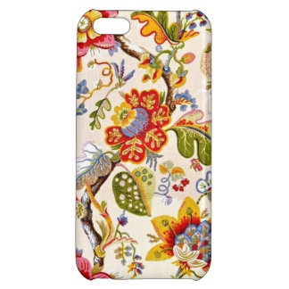 Jacobean Gold Floral Pattern iPhone 5C Cover