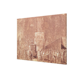 Jacobin Club During the Revolution Stretched Canvas Print