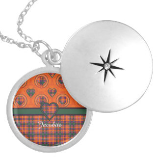 Jacobite clan Plaid Scottish tartan Silver Plated Necklace