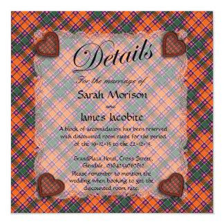 Jacobite Scottish clan tartan - Plaid 13 Cm X 13 Cm Square Invitation Card