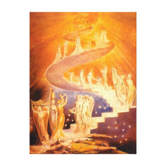 Jacob's Dream By William Blake Canvas Print