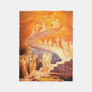 Jacob's Dream By William Blake Fleece Blanket