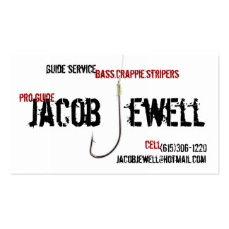 Jacob's Fishing Guide Service Double-Sided Standard Business Cards (Pack Of 100)