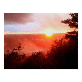 Jacobs Hill Sunset Fog Royalston MA Post Card