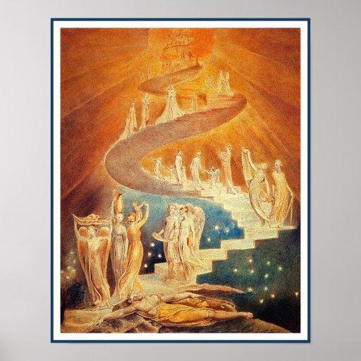 Jacob's Ladder by William Blake Print