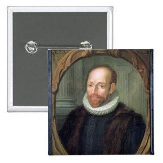 Jacobus Arminius, Professor of Theology 15 Cm Square Badge