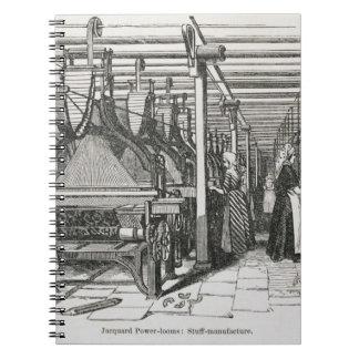 Jacquard Power Looms (engraving) Notebooks