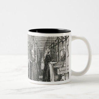 Jacquard Power Looms (engraving) Two-Tone Coffee Mug