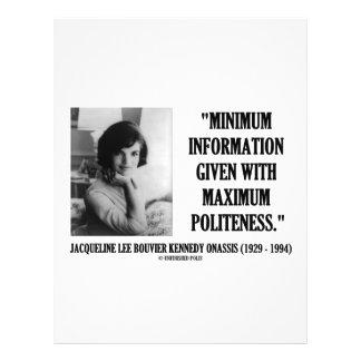 Jacqueline Kennedy Minimum Information Politeness 21.5 Cm X 28 Cm Flyer