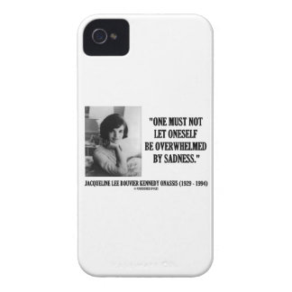 Jacqueline Kennedy Not Be Overwhelmed By Sadness iPhone 4 Cases