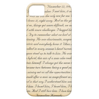 Jacqueline Kennedy s letter to John F Kennedy iPhone 5 Cases
