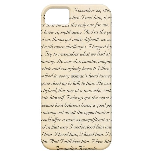 Jacqueline Kennedy's letter to John F. Kennedy iPhone