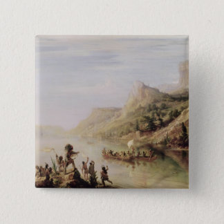 Jacques Cartier Discovering the St. Lawrence 15 Cm Square Badge