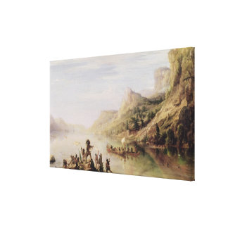 Jacques Cartier Discovering the St. Lawrence Canvas Print