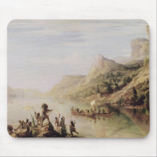 Jacques Cartier Discovering the St. Lawrence Mouse Mat