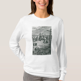 Jacques Cartier  Setting up a Cross at Gaspe T-Shirt