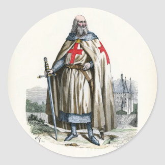 Jacques de Molay - Knight Templar Classic Round Sticker
