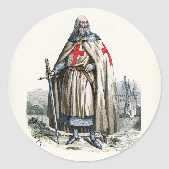 Jacques de Molay - Knight Templar Classic Round