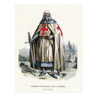 Jacques de Molay - Knight Templar Postcard