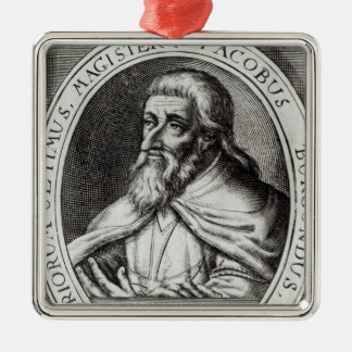 Jacques de Molay  Master of Knights Templars Christmas Ornament