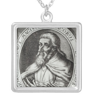 Jacques de Molay  Master of Knights Templars Silver Plated Necklace