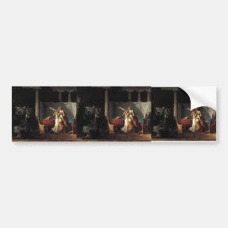 Jacques-Louis David- Lictors Bearing to Brutus Bumper Sticker