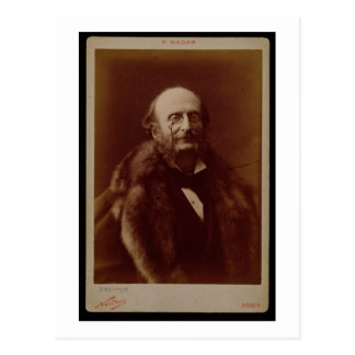 Jacques Offenbach (1819-80), German composer, port Postcard