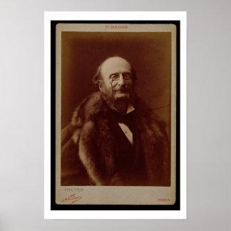 Jacques Offenbach (1819-80), German composer, port Print