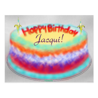 Jacqui's Birthday Cake post card